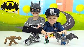 Бэтмен и Робин против Глиноликого - Игровые наборы Batman и Даник. Игрушки супергерои для мальчиков