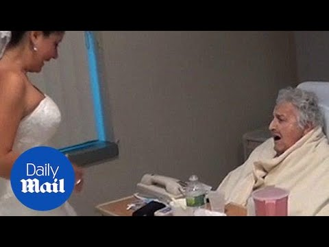 Bride surprises grandmother at the hospital on her wedding -