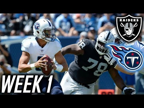 Week 1: Tennessee Titans lose to Oakland Raiders 26-16! Derek Carr beats the Titans again!