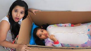 أختي الصغيرة اختبئت في الصندوق !!! My little sister hiding in the box