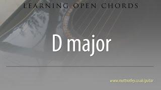 learn open guitar chords: d major (d)
