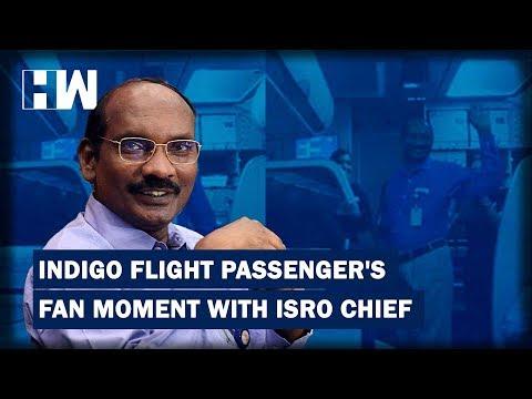 ISRO chief K Shivan gets warm welcome on flight