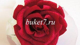Мастер-класс. Роза из гофрированной бумаги с конфетой своими руками. Букеты из конфет.