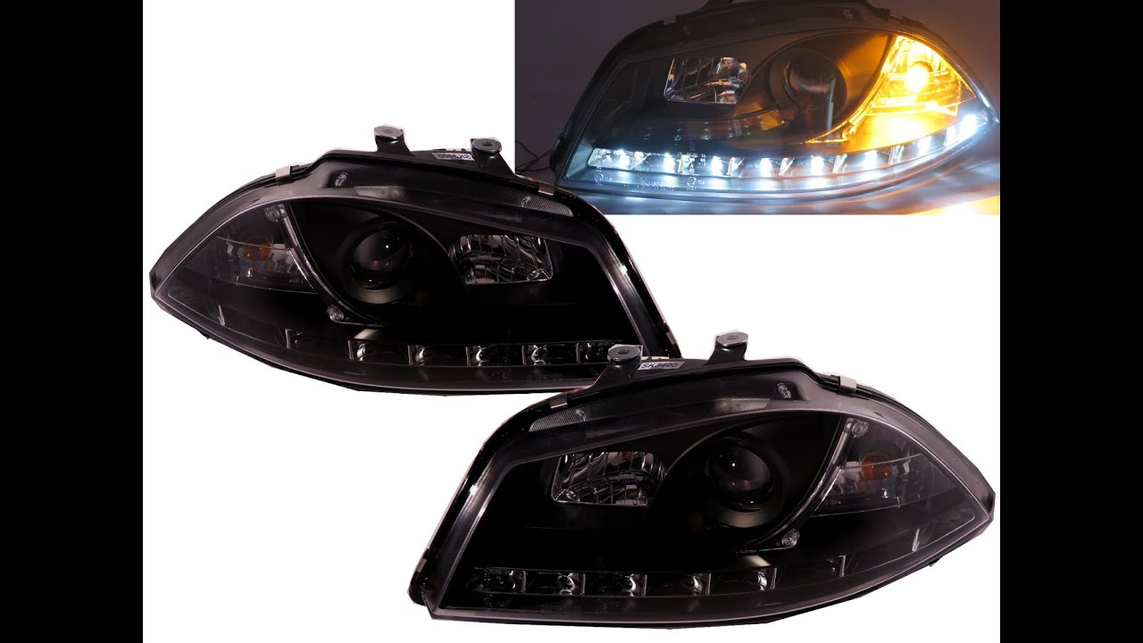 crazythegod ibiza 2002 2006 6l projector headlight led drl. Black Bedroom Furniture Sets. Home Design Ideas