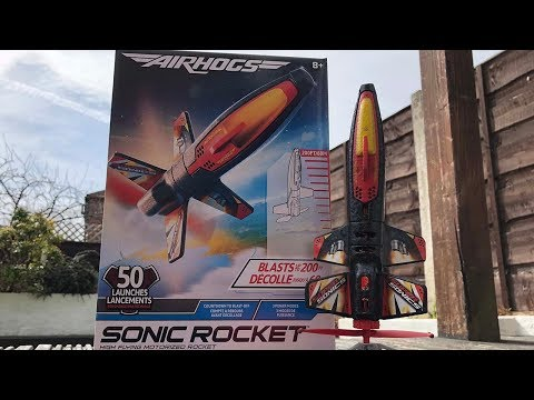UK Review Air Hogs Sonic Rocket toy opening and launch