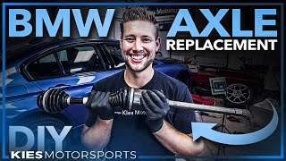 F30 BMW Front Axle Output Shaft Replacement (How to fix a broken BMW F30 Axle!)