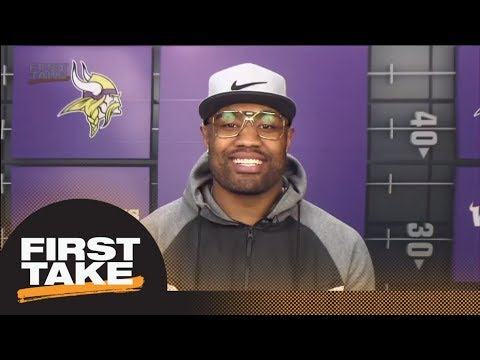 Vikings' Everson Griffin describes sideline during Stefon Digg's winning TD | First Take | ESPN