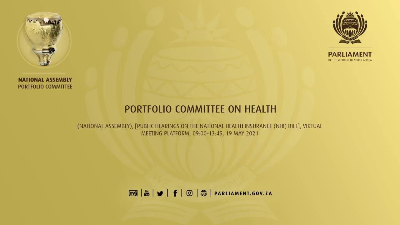 Portfolio Committee on Health - YouTube