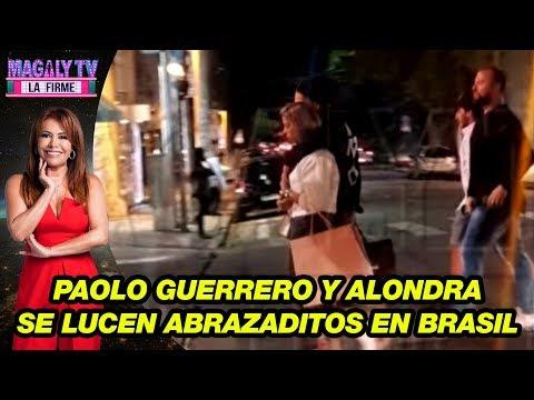 Paolo Guerrero y Alondra García Miró se lucen abrazaditos en Brasil