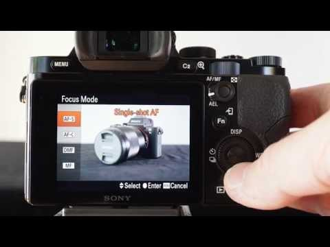 Back-Button AF and Manual AF settings using a Sony Alpha A7 camera