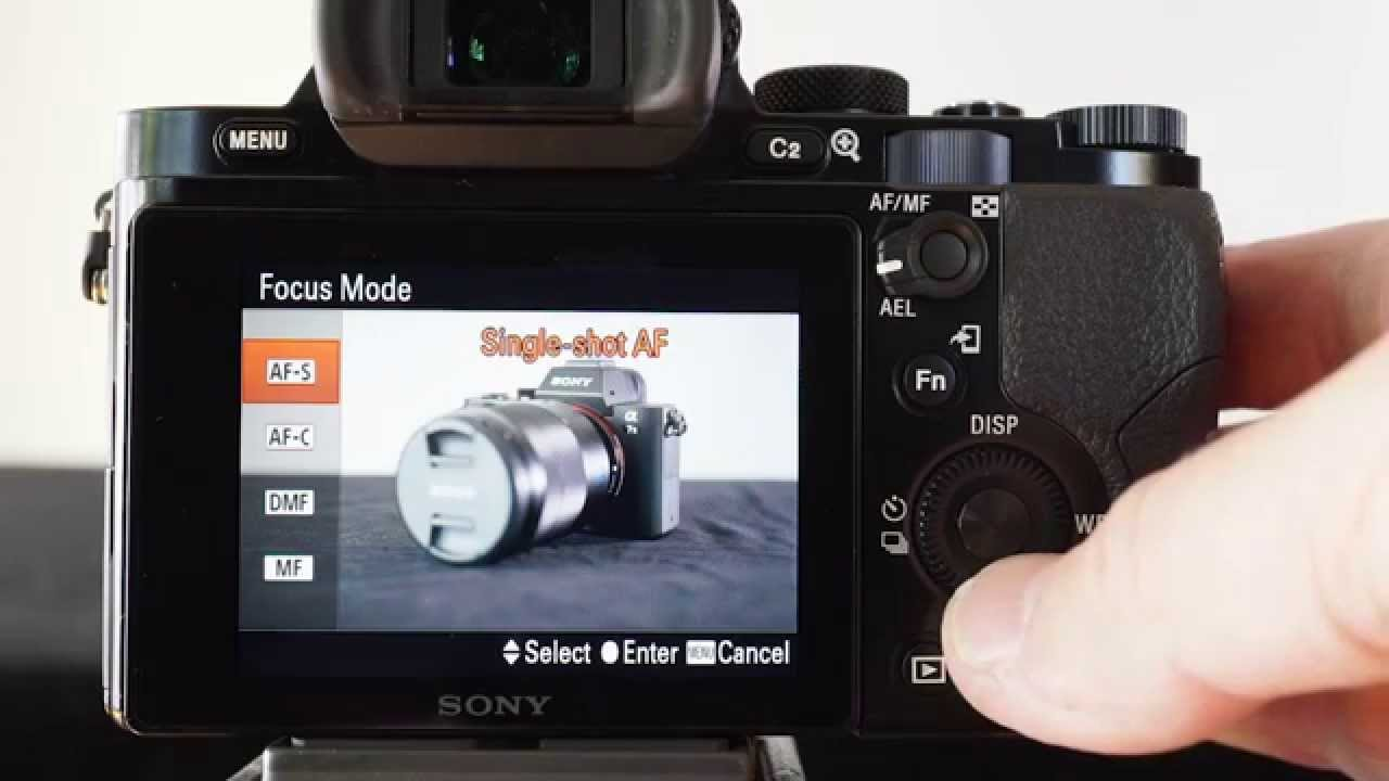 Back Button Af And Manual Af Settings Using A Sony Alpha A7 Camera Youtube