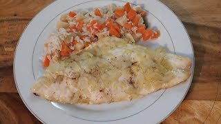 Red Snapper,Baking Fish in Parchment Paper,Quick Vegetable Rice