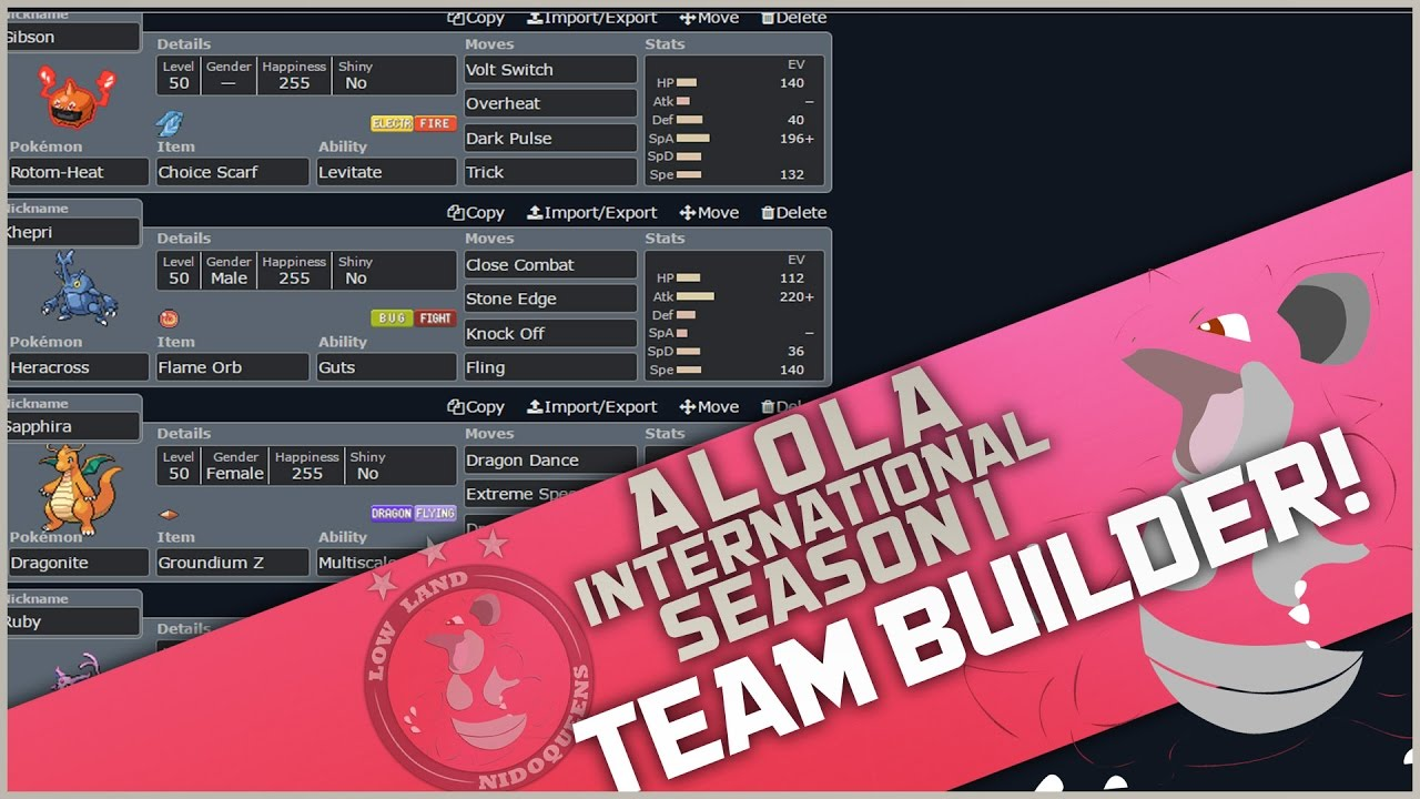 Alola International S1W5 || VS Windsor Weaviles ! [TEAMBUILDER]