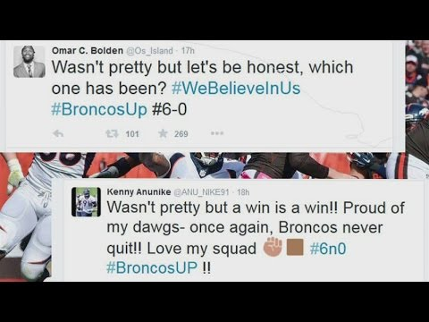 See what the Broncos players are tweeting after the Broncos-Browns game