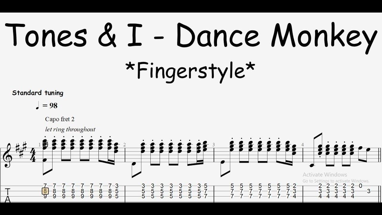 Download Dance Monkey Fingerstyle Guitar Tab Tones And I Mp3 Radio Apik Zaman Now