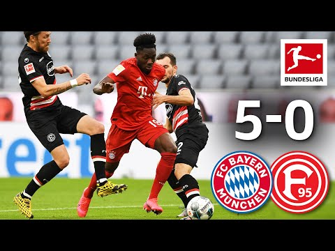 FC Bayern München vs. Fortuna Düsseldorf I 5-0 I Lewandowski, Davies & Pavard Score in Emphatic Win