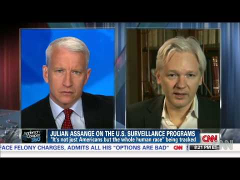 Julian Assange on Edward Snowden, NSA Leaks & Bradley Manning - AC360 06/10/2013