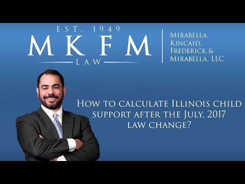 How to calculate Illinois child support after the July, 2017 law change