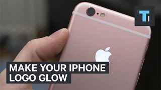 Make your iPhone logo glow