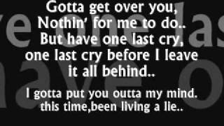 kian (westlife)-one last cry lyrics.