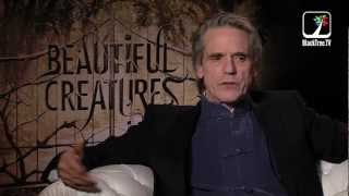 "Jeremy Irons talks Beautiful Creatures and the orgin of ""Love"""
