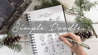 How to Draw Simple Christmas Things | Doodle with me!