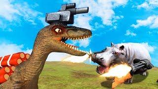 RPG DINOSAURS vs. ASSAULT RHINO'S! (Beast Battle Simulator #2)