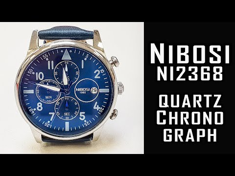 Nibosi NI2368 Inexpensive Quartz Chronograph Review #238 #Nibosi #nibosiwatch #gedmislaguna