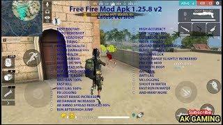 Free Fire Mod Apk 1.25.8 v2   Latest Version   1 Shot Kill   No Spread   High Damage   Auto Aimlock