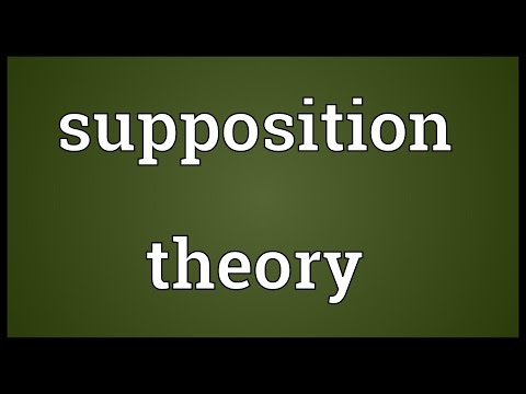 Supposition theory Meaning