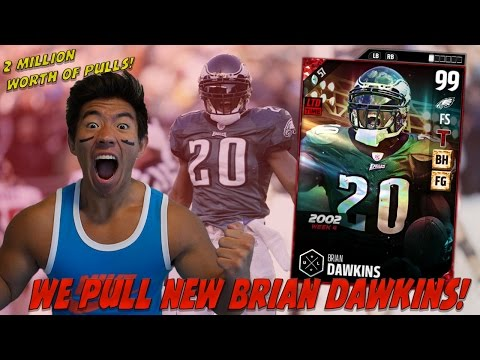 WE PULL ULTIMATE LEGEND BRIAN DAWKINS!? OVER 2 MILLION IN PULLS! MADDEN 17 PACK OPENING