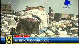 En Táchira autoridades controlaron incendio en relleno sanitario de San Josecito
