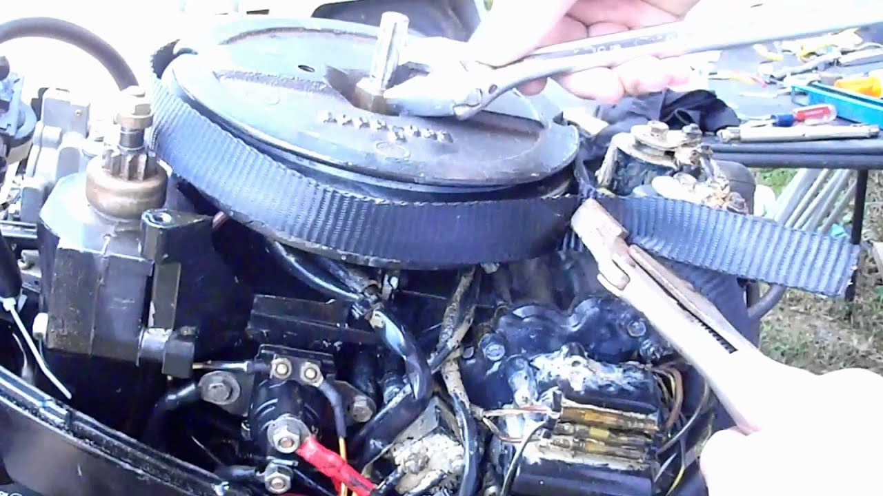 Force Ignition Switch Wiring Diagram Fly Wheel Removal Outboard Mercury 15 Hp Youtube