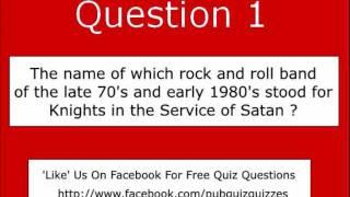 Quiz Questions 001