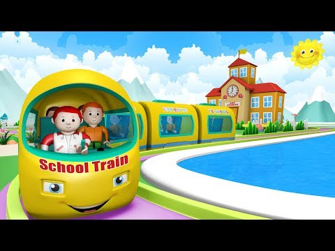 School Train - Toy Factory School - Choo Choo Train - Kids train video - Toy Trains -Trains for Kids