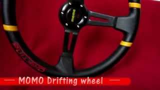 MOMO Drifting sport steering wheel black - red !