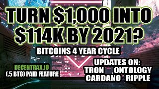 Turn $1,000 into $114k by 2021? - Decentrax.io - Updates on: TRON, ONTOLOGY, AION, CARDANO, RIPPLE