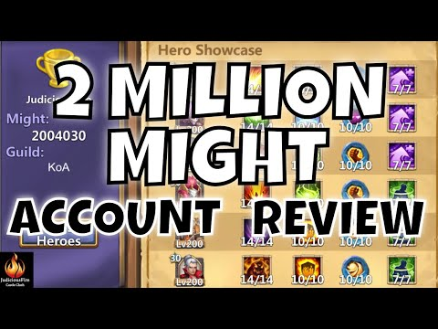 2 MILLION MIGHT Castle Clash Account Altar REVIEW
