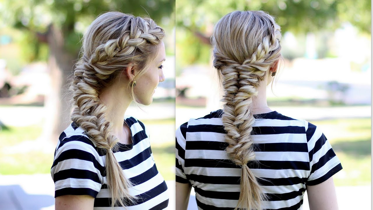 How to topsy tail fishtail braid with a french braid youtube ccuart Choice Image