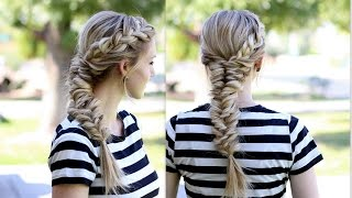 How to: Topsy Tail Fishtail Braid with a French Braid