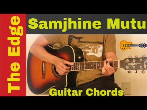 Samjhine Mutu The Edge Band Guitar Chords Lesson Tutorial