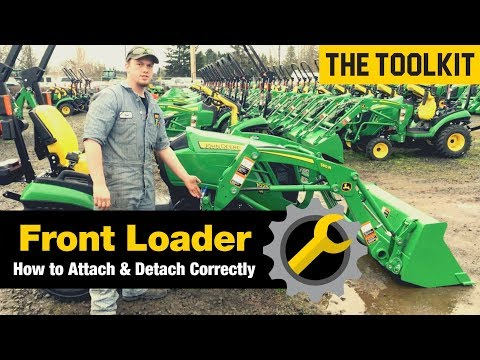 Front End Loader Removal and Install| John Deere Implement