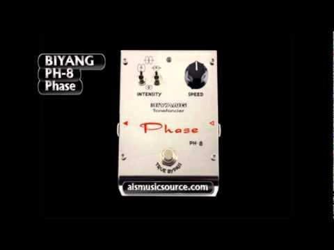 Biyang PH-8 Phaser guitar Pedal Demo