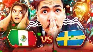 MEXICO vs SWEDEN REACTION!! LIVE IN RUSSIA! 2018
