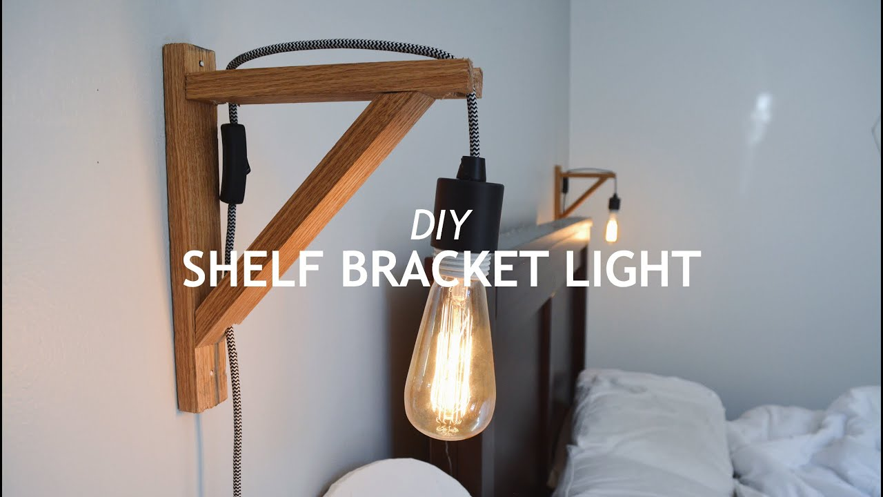 diy shelf bracket light youtube rh youtube com Wooden Floating Shelves Wooden Floor Shelves