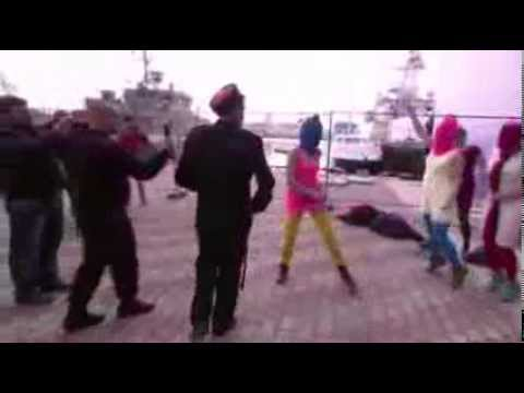 """Militant feminist gang """"Pussy Riot"""" gets greeted by Cossack Police in Sochi Olympic games"""