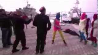 "Militant feminist gang ""Pussy Riot"" gets greeted by Cossack Police in Sochi Olympic games"