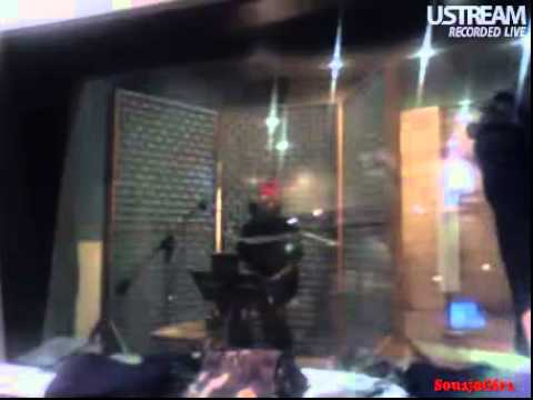Chris Brown recording T.Y.A. 02/02/10 06:45PM