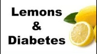 Lowering blood sugar with lemons