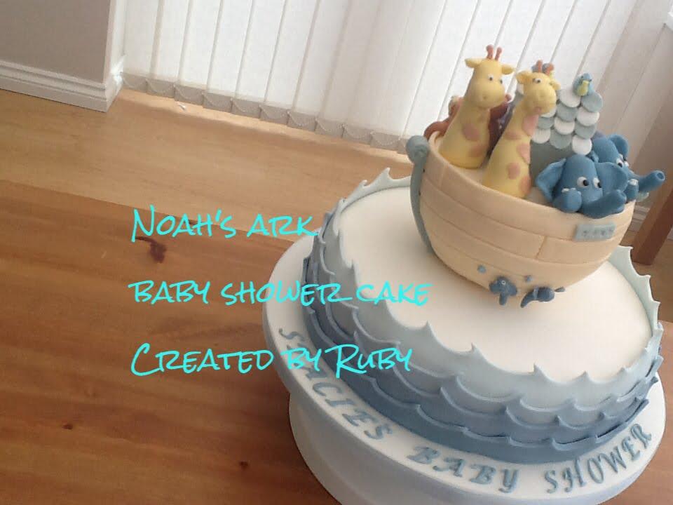 Noahu0027s Ark Baby Shower Cake